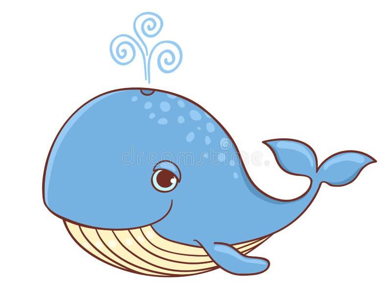 błękitny wieloryb ilustracji