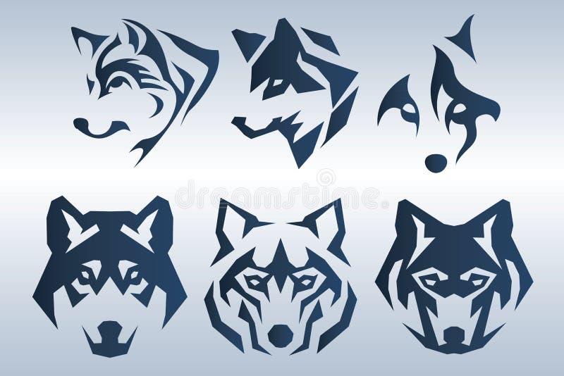 Błękitny Wilczy logo royalty ilustracja