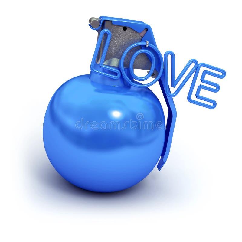 błękitny wybuchowa miłość ilustracja wektor