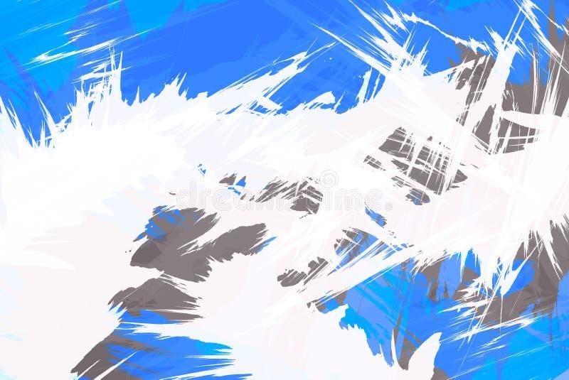 błękitny wybuchu ostry układ ilustracja wektor