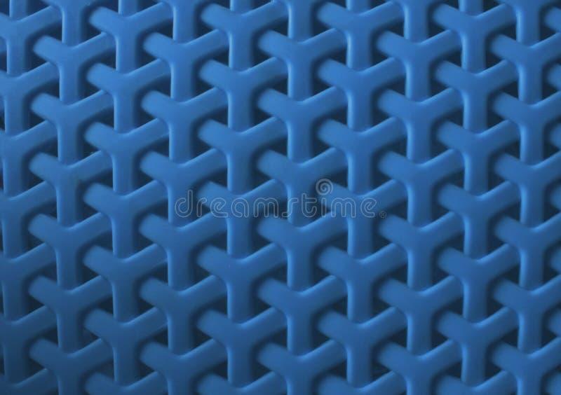 Błękitny wyplatający plastikowy textured tło obraz stock