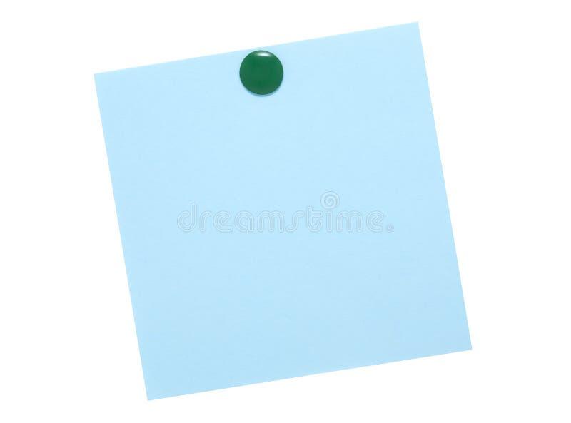 błękitny zieleni notatki szpilka obrazy stock
