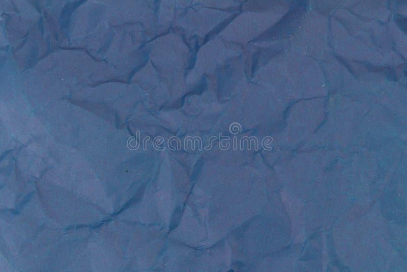 Błękitny zmięty papierowy tekstury tło obrazy stock