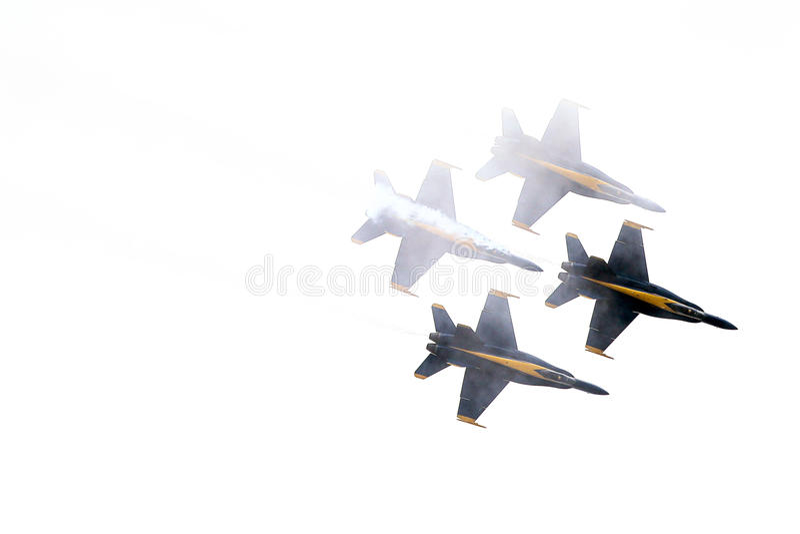 Błękitnych aniołów formacja w chmurach zdjęcie royalty free