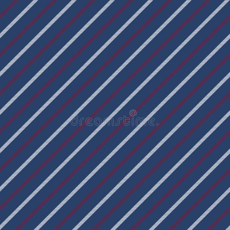 Błękitnych bezszwowych lampasów deseniowa diagonalna tekstura ilustracja wektor