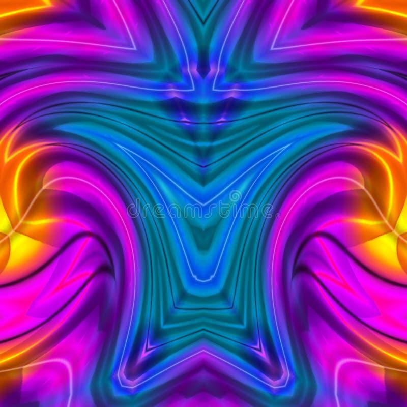Błękitnych pomarańcz menchii cyfrowa sztuka z mieszanka koloru projektem ilustracja wektor