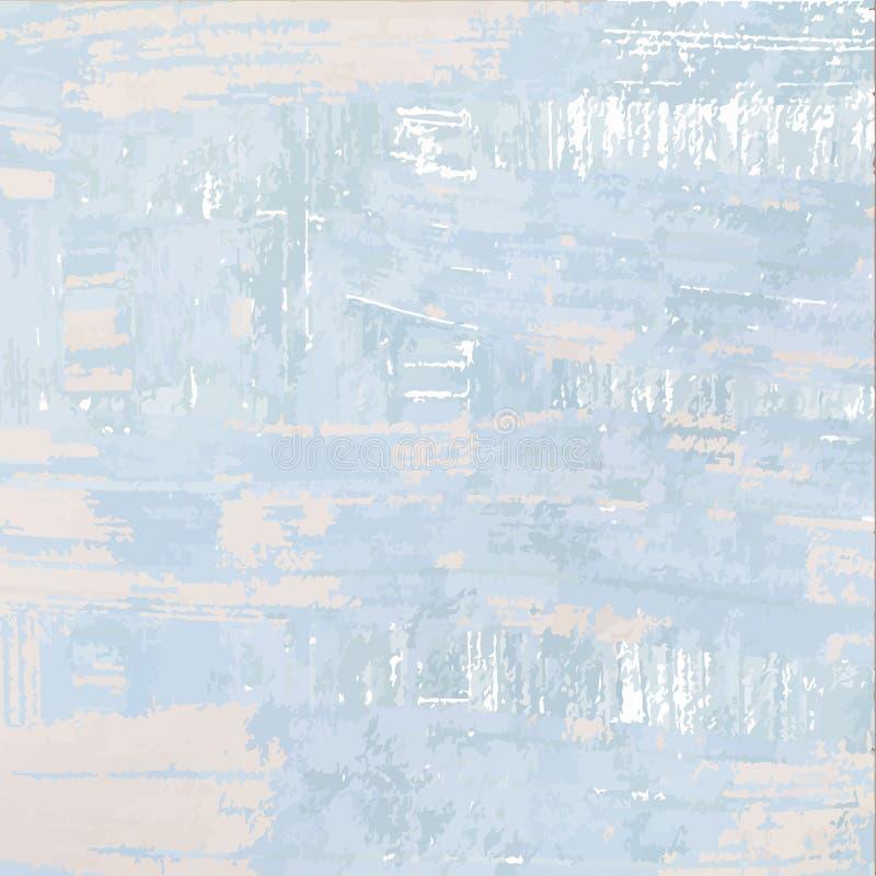 Błękitnych szarość grunge beżowy tło Wektorowy tło jak malujący royalty ilustracja