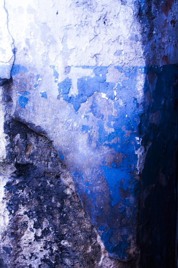 Błękitnych tekstur Stara ściana zdjęcia stock