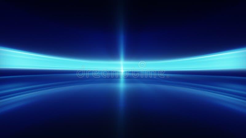 Błękitnych zamazanych linii abstrakcjonistyczny futurystyczny tło ilustracja wektor
