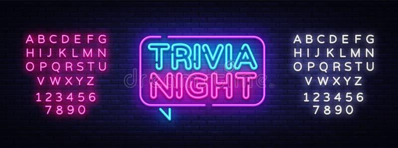 Błachostki nocy zawiadomienia signboard neonowy wektor Lekki sztandar, projekta element, noc Neonowy Advensing również zwrócić co ilustracja wektor