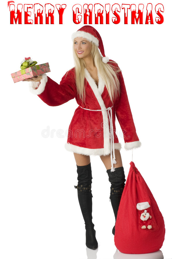 błaga Claus Santa obraz royalty free