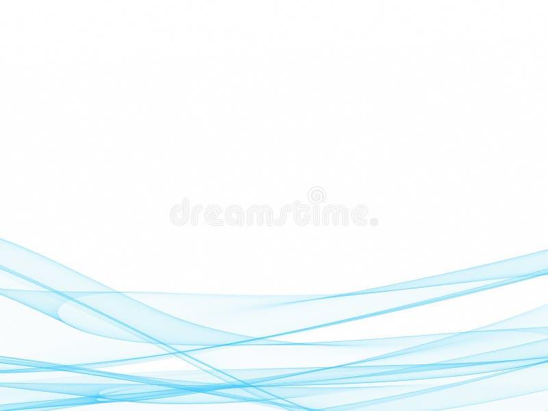 Bławe fale na dnie na białym tle ilustracji