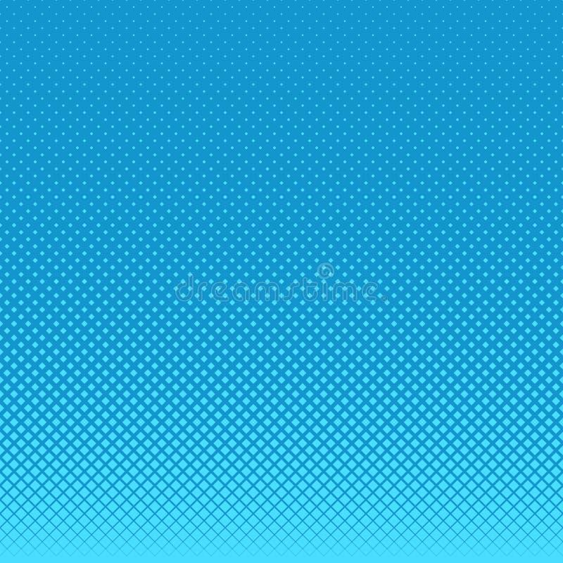 Bławy abstrakcjonistyczny geometrical halftone kwadrata wzoru tło - wektorowa grafika od kwadratów w urozmaiconych rozmiarach ilustracja wektor