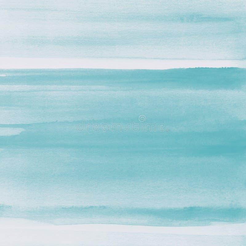Bławy akwareli tekstury tło, ręka malująca obrazy stock