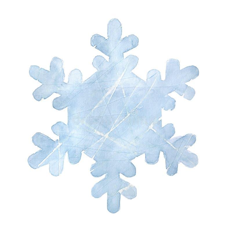 Bławy grungy płatek śniegu z ocenami i narysy lubimy na hokejowym lodowym lodowisku royalty ilustracja