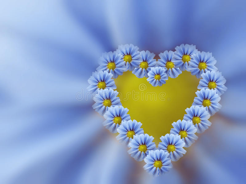 Bławy serce kwiaty na bławym zamazanym tle wszystkie jakaś składu elementów kwieciste ilustracyjne indywidualne przedmiotów skala ilustracja wektor