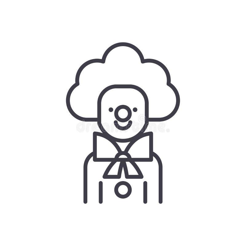Błazen ikony czarny pojęcie Błazenu płaski wektorowy symbol, znak, ilustracja ilustracja wektor