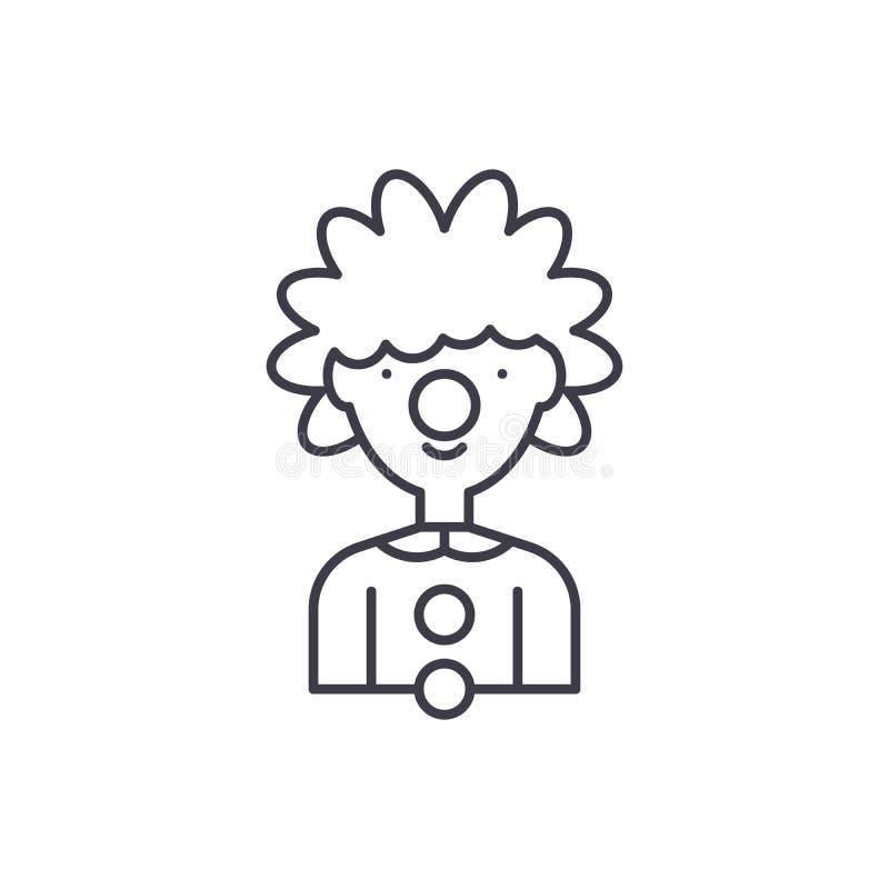 Błazen ikony kreskowy pojęcie Błazen wektorowa liniowa ilustracja, symbol, znak ilustracja wektor