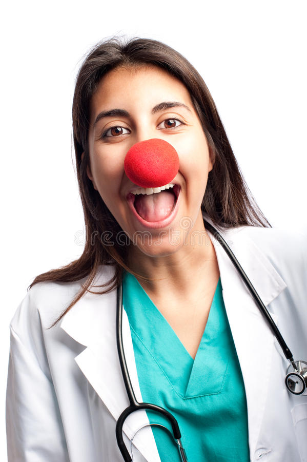 Błazen lekarka ma zabawę fotografia royalty free