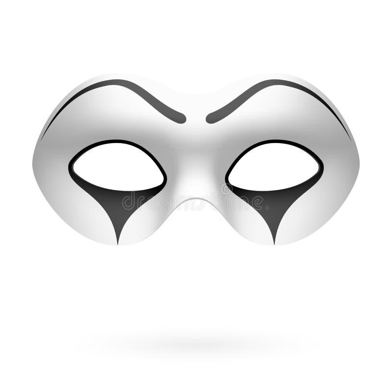 Błazen, mim maska royalty ilustracja