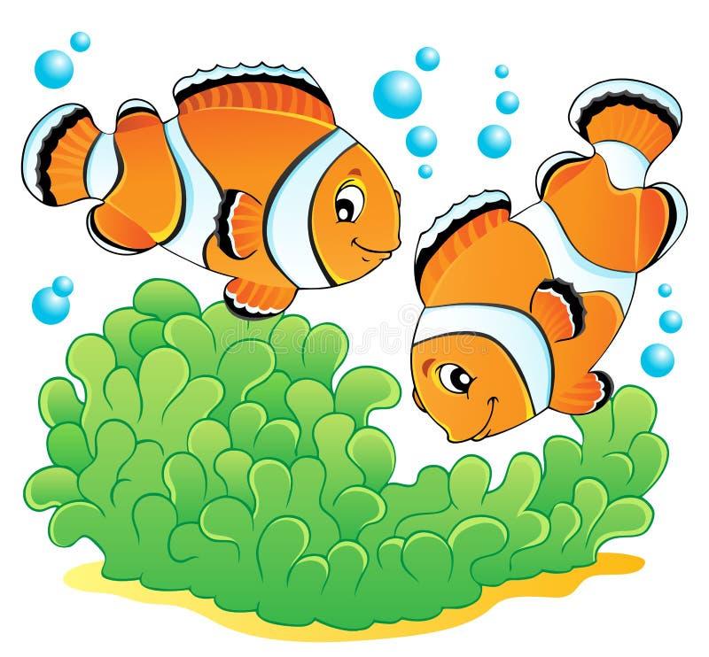 Błazenu rybi tematu wizerunek (1) royalty ilustracja