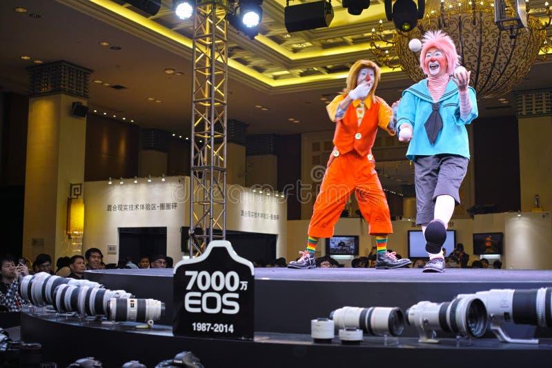 Błazeny Canon Uroczysty jarmark 2014 Guangzhou obraz stock