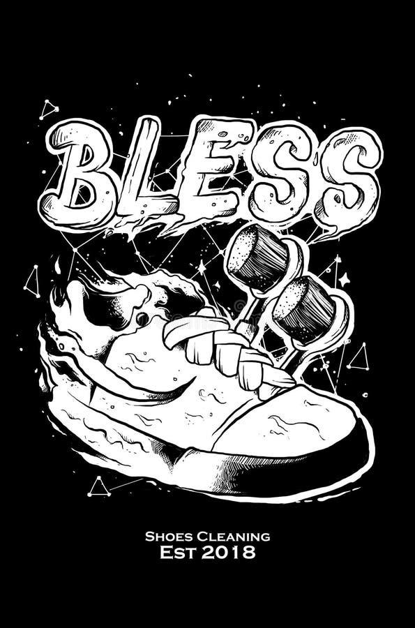 Błogosławi buta ilustracyjnego projekt ilustracji