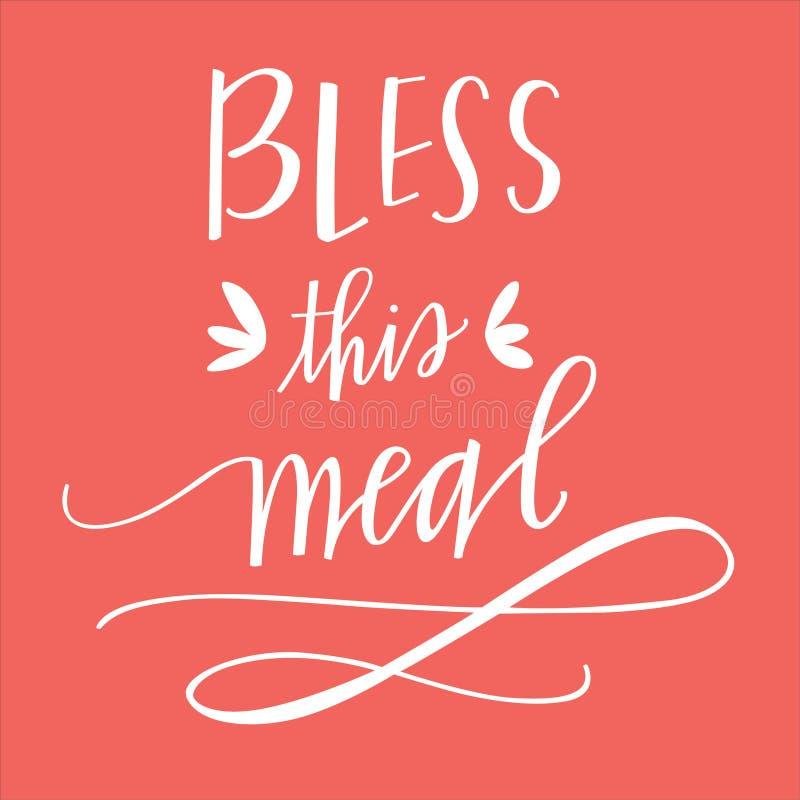 Błogosławi ten posiłek royalty ilustracja