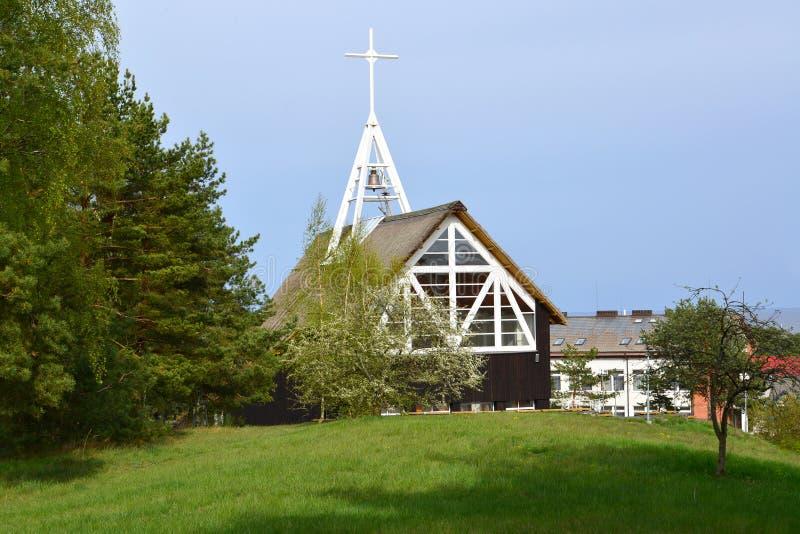 Błogosławiony maryja dziewica kościół w Nida, Lithuania zdjęcie stock