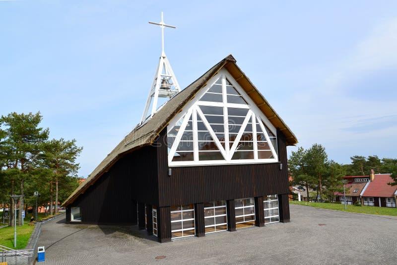 Błogosławiony maryja dziewica kościół w Nida, Lithuania zdjęcie royalty free