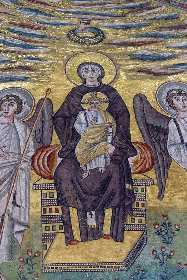 Błogosławiony maryja dziewica z dzieckiem Jezus obrazy stock