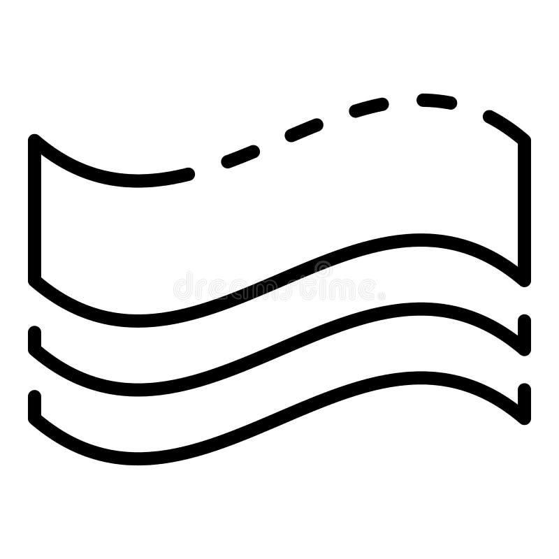 Błona elektryczna papierosowa ikona, konturu styl ilustracji