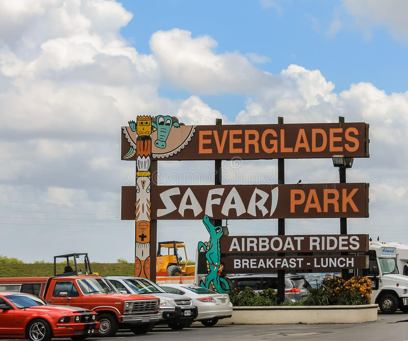 Błota safari park zdjęcie stock