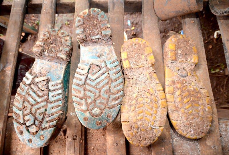 Download Błotniści buty obraz stock. Obraz złożonej z natura, obuwie - 57656713
