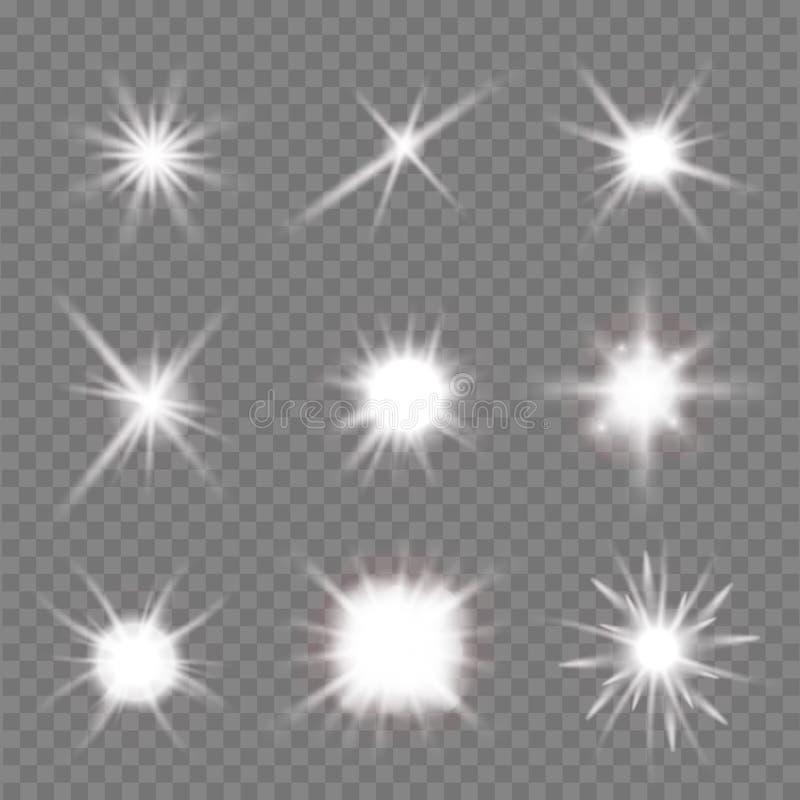 200 błysków światło jeden seria ilustracji