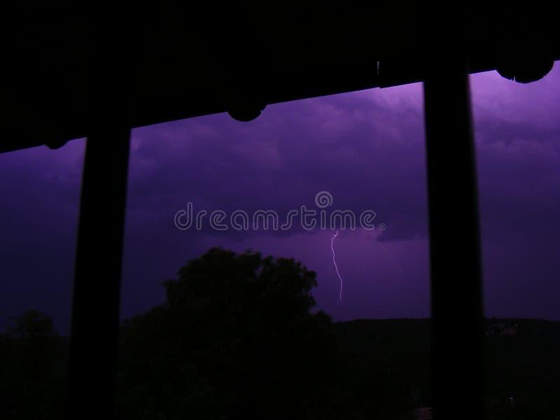 Błyskawica w horyzoncie, lato burza obrazy stock
