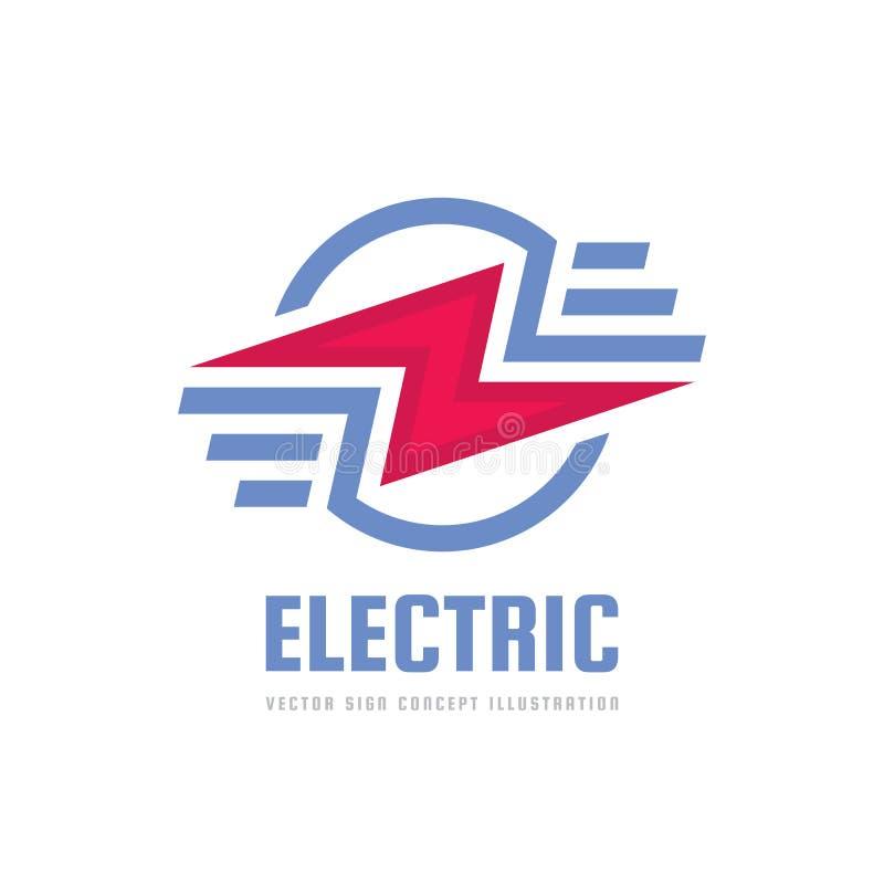 Błyskawica - wektorowa loga szablonu pojęcia ilustracja elektryczności władzy ikona Nowożytny technologia znak elementy projektu  royalty ilustracja