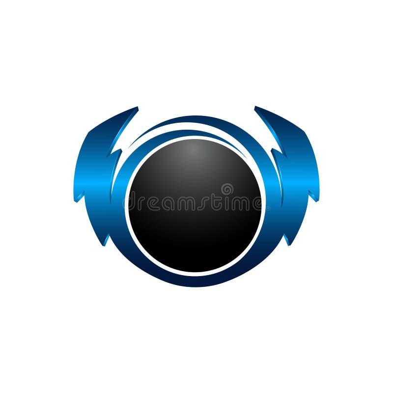 Błyskawica, zasilanie elektryczne ikony projekta wektorowy element Energia i grzmot elektryczności symbolu pojęcie błyskawicowego royalty ilustracja