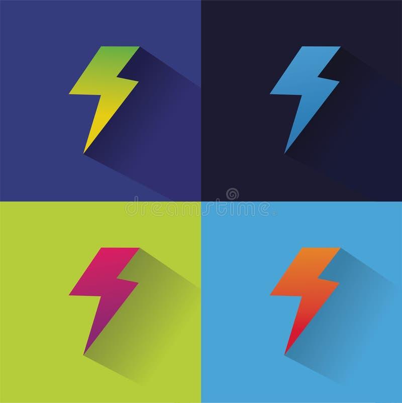 Błyskawicowa abstrakcjonistyczna logo ikona dla projekta royalty ilustracja