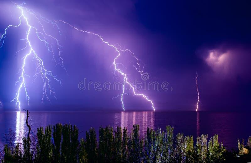 Błyskawicowa burza obrazy royalty free