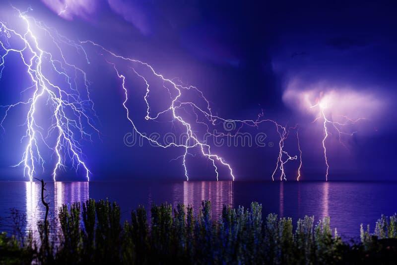 Błyskawicowa burza obraz stock