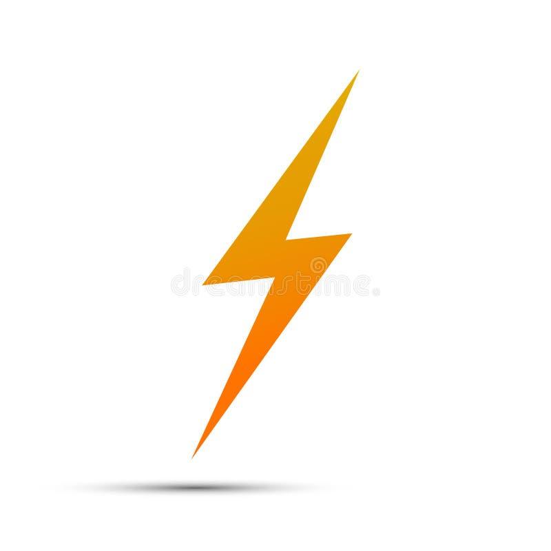 Błyskawicowe płaskie ikony Prosta ikony burza, grzmot lub światło royalty ilustracja