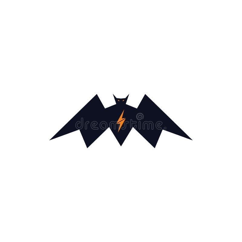 Błyskawicowego nietoperza logo śmiały pojęcie royalty ilustracja