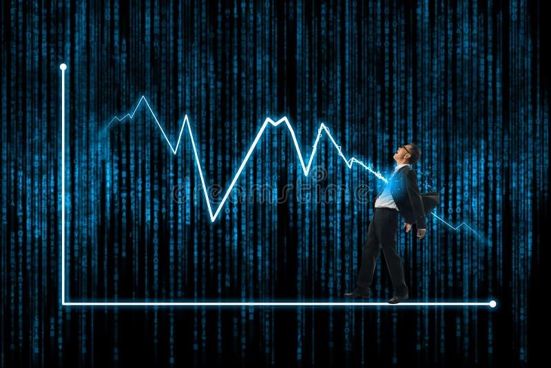 Błyskawicowego rygla ataka biznesmen, rynek papierów wartościowych i rynek finansowy, fotografia royalty free