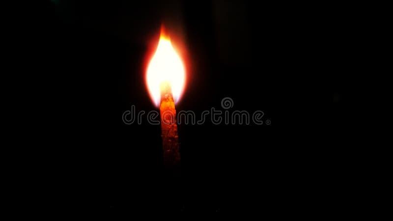 Błyskawicowy matchstick w zmroku obrazy royalty free