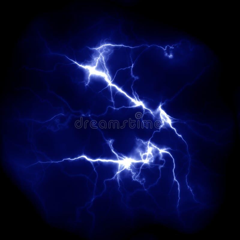 Błyskawicowy szablon Elektryczny piorun w niebie Natura wizerunek obrazy royalty free