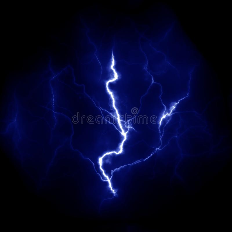 Błyskawicowy szablon Elektryczny piorun w niebie Natura wizerunek obrazy stock
