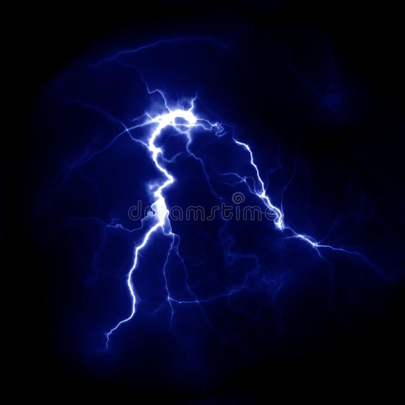 Błyskawicowy szablon Elektryczny piorun w niebie Natura wizerunek fotografia royalty free