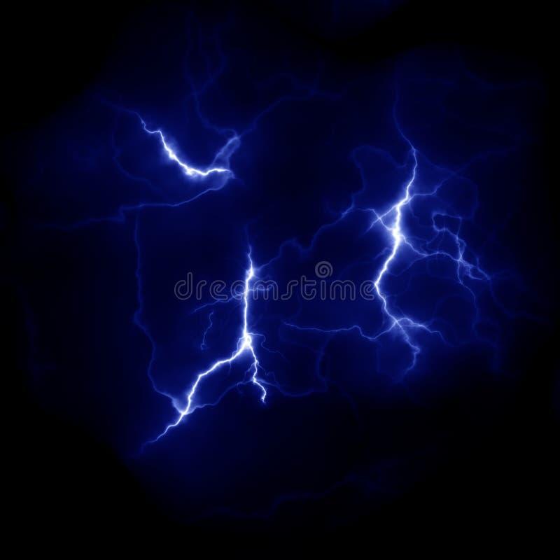 Błyskawicowy szablon Elektryczny piorun w niebie Natura wizerunek zdjęcie stock