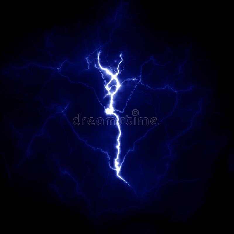 Błyskawicowy szablon Elektryczny piorun w niebie Natura wizerunek obraz stock